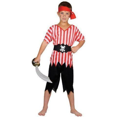 Boys High Seas Pirate Fancy Dress Costume (Age 8 - 10)